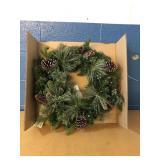 "24"" Mixed Greenery Wreath MSRP $32.99"