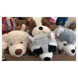 4 stuffed animals