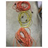 Three extension cords