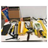 Drywall and paint tools