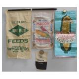 4 paper & cloth seed bags Pioneer & others