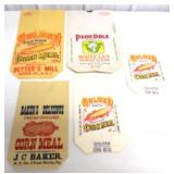 lot of 5 unused corn meal & flour bags