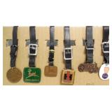lot of 6 watch fobs IH, John Deere, Case, Fordson