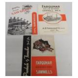 lot of 3 Farquhar sawmill catalogs