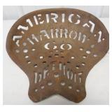 American Harrow Co tractor seat