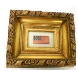 Framed American Flag 13 Stars