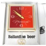 Ballantine Beer Light and Clock