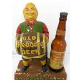 Old Reading Beer Display with Bottle