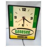 Genesee Beer Light and Clock