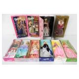 Lot of 10 Barbie Dolls NIB