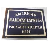 American Railway Express Enamel Sign