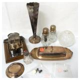 Mixed Lot of Silverplate and Glass