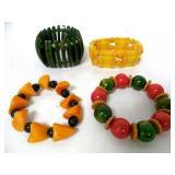 Lot of 4 Bakelite Bracelets