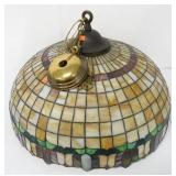 Large Stained Glass Hanging Lamp