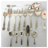 Lot of 14 Silverplate Serving pieces