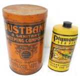 Dustbane / Plymouth Tins Lot of 2