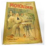 Mokaine Liqueur Sign Tin