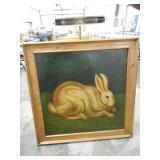 Oil on Canvas Rabbit