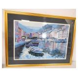Framed Print Boats on Water