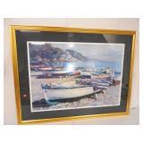 Framed Print Boat on Beach