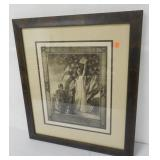 World War I Print Wounded Soldier