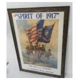 Spirit of 1917 Poster Framed