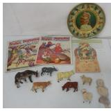 Misc. Lot Animals/ Paper/ Tin Plate (10)