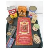 Misc. Lot of Tins / Cleansers Etc. (10)