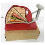 Jiffy-Way Red Egg Scale with Original Box NOS