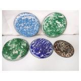 Lot of 5 Graniteware Pie Plates