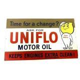 Metal Uniflow Motor Oil Sign
