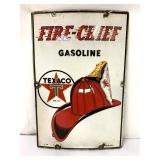 Metal Fire Chief Gasoline Sign