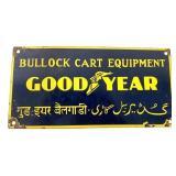 Porcelain Goodyear Bullock Cart Equip Sign