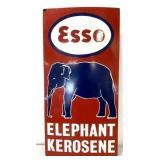 Bengal Enamel Esso Elephant Kerosene Sign