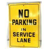 Metal No Parking Sign