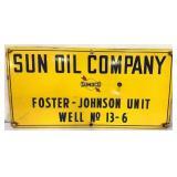 Porcelain Sun Oil Company Sign