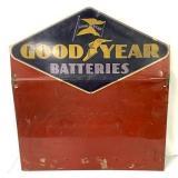 Metal Goodyear Batteries Sign