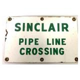 Porcelain Sinclair Pipe Line Sign