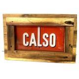 Chevron CALSO Pump Plate,Framed