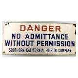 Porcelain So California Edison Sign