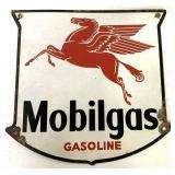 Porcelain Mobilgas Gasoline Sign