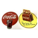 Lot of 2,Coca Cola Advertising Decal & Sign