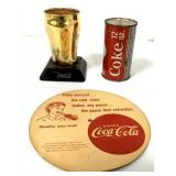 Lot of 3 Coca Cola Advertising Items