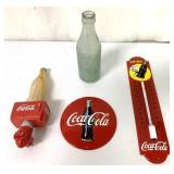 Lot of 4 Coca Cola Adv,Night Light,Bottle