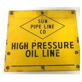 Porcelain Sun Pipe Line High Pressure Sign