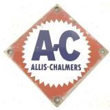 Porcelain A-C Allis-Chalmers Sign
