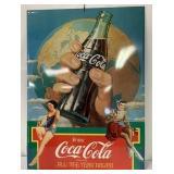Tin Coca Cola Advertising Sign