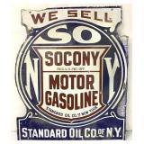 Porcelain Sacony Motor Gasoline Doublesided