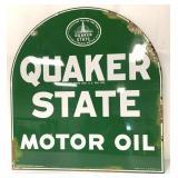 Porcelain Quaker State Motor Oil Doublesided