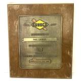 Sunoco Award Plaque 20 yrs Service